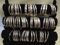 Beautiful Bangles Set 7 days Laminated Gold-Semanario Oro laminado Bracelets