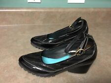 Women's CULEKA Hand Made - Black Patent Leather Wedge Heels Shoes - Size 6   (1)