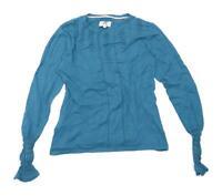 Noa Noa Womens Size M Cotton Blue Top (Regular)