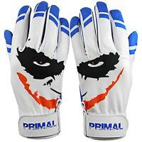 "Primal Baseball Adult Baseball Batting Gloves  Cool Blue ""Smiley"" Size Medium"