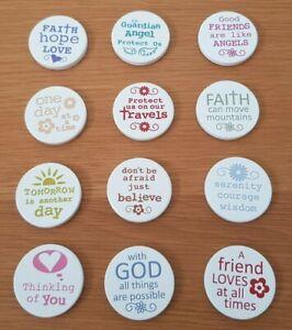 Ceramic Keepsake Religious Sentiment Token Friend Faith Hope Love Serenity God