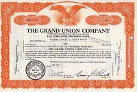 The Grand Union Co. Stock Certificate 1959