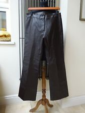 Images Ladies  Dark Brown Straight Leg Leather Trousers UK14R/EU 40 New