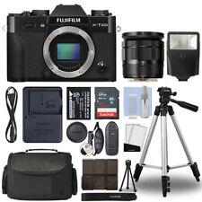 Fujifilm X-T20 4K Mirrorless Digital Camera & 16-50mm Lens Black + 32GB Bundle
