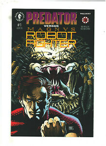 Predator vs Magnus Robot Fighter #1 VF/NM 9.0 Valiant/Dark Horse w/Trading Cards