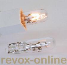 Lampensatz, 2 Lampen, Lämpchen für Studer Revox A722 Endstufe  24 V / 30 mA Neu