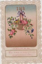 IMAGE PIEUSE HOLY CARD SANTINI-CANIVET-lITHO Bouasse-Lebel-FLEUR-Enfant de MARIE