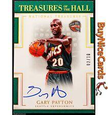 2016-17 Gary Payton National Treasures - Treasures of the Hall on Card Auto /10