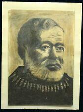 Ernest Hemingway original hand drawing 1983 20' x 14'