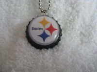 """1"""" Bottle Cap Image Necklace ~ Handcrafted ~ **Gift Idea ~ Steelers"""