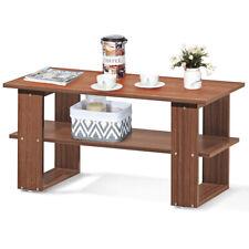 Coffee Table Wood Tea Table Living Room Table Desk Home Office Furniture w/Shelf