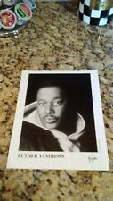 New listing Rare Luther Vandross Collectors Item 8 x 10 Promo June 1998 Virgin Records