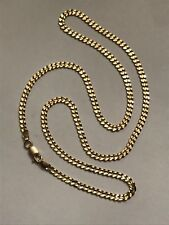 """14k Yellow Gold 3mm 18"""" Diamond Cut Curb Chain 8.7 Grams Necklace"""