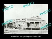 OLD LARGE HISTORIC PHOTO OF PORT PIRIE SA, VIEW OF THE POST OFFICE c1870