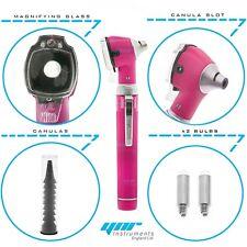 YNR Pink Mini Otoscope Pocket Fiber Optic Medical Diagnostic NHS GP CE Approved