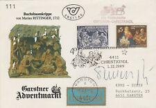 Christkindl1.12.1989 Vorläüfer Kutschenpost Garsten-Christkindl mit Unterschrift