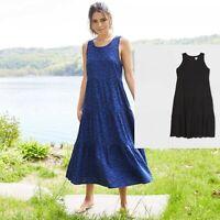 Women's Sleeveless Tiered Dress - A New Day™ BLACK , BLUE