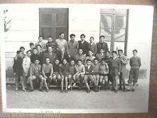 Vecchia foto bn di scolaresca SALERNO scuola media professore con alunni Tasso?