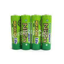 4 pcs 2500mWh 1.6V Volt AA 2A NiZn Rechargeable Battery PowerGenix