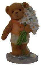 CHERISHED TEDDIES  GLENN - Boy With Flowers - Thank You Bear - Retired