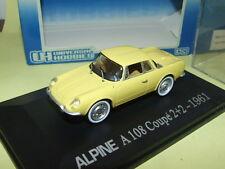 RENAULT ALPINE A108 Coupé 2+2 1961 Jaune UNIVERSAL HOBBIES
