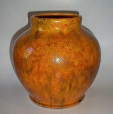 English Arts & Crafts / Art Deco Pilkington Royal Lancastrian Large Globe Vase