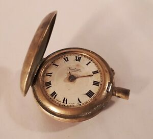 Antique 1920s Gents Swiss BENTIMA Shockproof Half-Hunter Pocket Watch. 9ct Gold