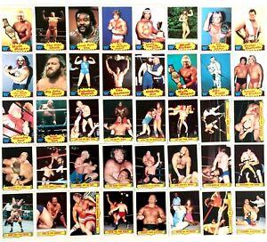 Scanlens World Wrestling Federation Cards (53 Cards) 1986