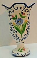 """RCCL #99 Portugal Hand Painted Blue & White Vase  11 1/2""""H"""