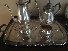 silverplated vintage coffee service 5 piece ( wm a rogers)
