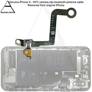 Genuine iPhone X NFC Camera Clip Bluetooth Antenna Cable Replacement Part