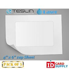 "Teslin® Synthetic Paper - 4"" x 6"" Perforated 1-Up Laser Sheet 