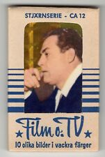 1962 Unopened Swedish Film Star Stjarnserie CA12 packet complete with 10 cards
