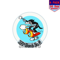 390th Bomb Squadron 4 pack 4x4 Inch Sticker Decal