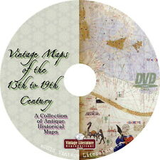 Vintage Maps of the 13th to 19th Century { 192 World History Images } on Dvd