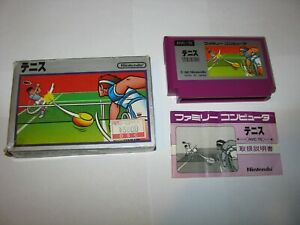 Tennis Silver Box Picture Label Famicom NES Japan import boxed no tray US Seller