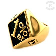 1%er Ring/Edelstahl gold Biker Rocker outlaw (R009)