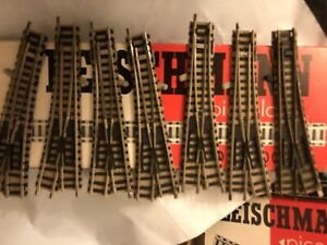 Fleischmann Piccolo N Gauge track 9130 X7 Left And right Points Used