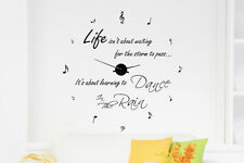 Walplus Dance in The Rain Quote Clock DIY Wall Art Room Home Hotel Decoration