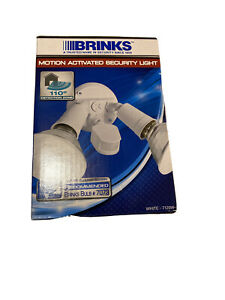 Brinks Motion Light 7120W 110-Degree Motion 2 -head Security White Hardwired