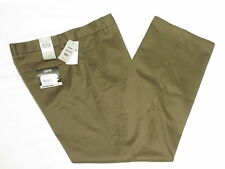 $58 NWT Mens Dockers Signature Khaki Flat D2 Straight Pants Brown 33x30 33 N346