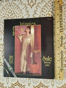 VINTAGE NIGHT N DAY INTIMATES LINGERIE CATALOG HOLIDAY 1983 SEXY ROMANTIC