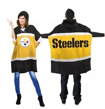 NFL Pittsburgh Steelers  Hoodie Poncho (one Size Fit Most) %100 Licensed