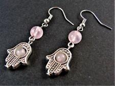 Rose Quartz Natural Stone Fashion Earrings