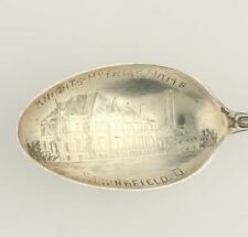 Knights of Pythias Home Springfield Ohio Souvenir Spoon Sterling Silver Vintage