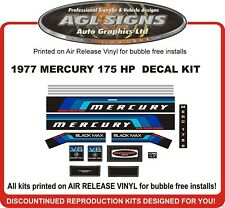 1977 MERCURY 175 HP OUTBOARD MOTOR DECAL SET, 1750 REPRODUCTIONS