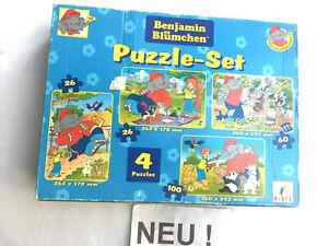 wNEU | Benjamin Blümchen 4 x PUZZLE : 26 + 26 + 60 + 100 Teile 4-6J Elefant Tier