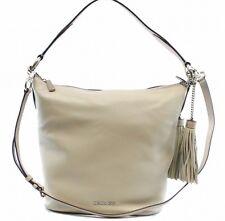 Michael Kors NEW Cement Grey Elana Convertible Shoulder Bag Leather $378 #016