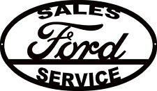 Ford Sales Silhouette Laser Cut Out Sign 14x24