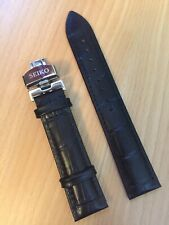Seiko Watch Leather Strap 20mm with Stainless Steel Clasp BARGAIN!
